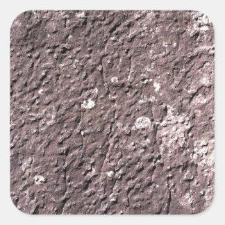 Bedrövar deprimerad granit med lichen.en fyrkantigt klistermärke