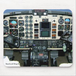 Beechcraft kungluft 350 instrumenterar panelmusen musmatta