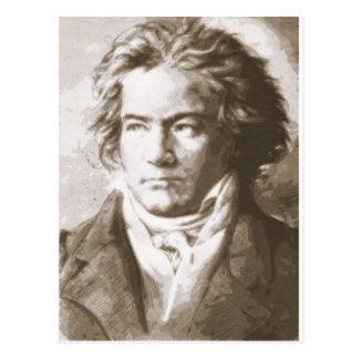 Beethoven i Sepia Vykort