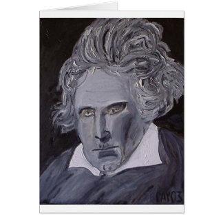 Beethoven noterar kortet hälsningskort