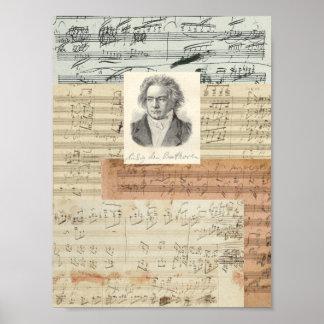 Beethovenmanuskript Poster
