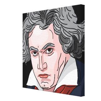 Beethovenporträttillustration Canvastryck