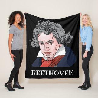 Beethovenporträttillustration Fleecefilt
