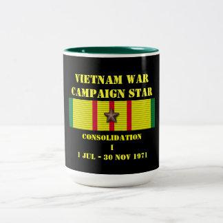 Befästning som jag delta i en kampanj kaffe koppar