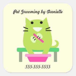 Befordrings- älsklings- groomers fyrkantigt klistermärke