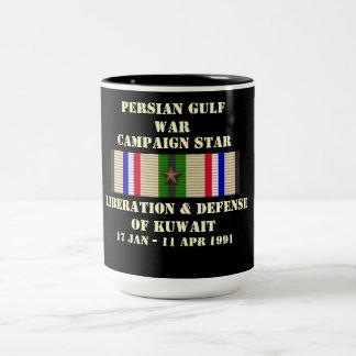 Befrielse & försvar av den Kuwait kampanjen Två-Tonad Mugg