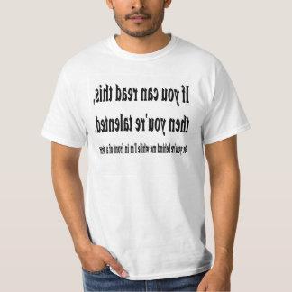 Begåvad avläsare t-shirt