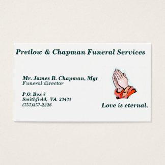 Begravningen servar visitkort - C…, - Skräddarsy