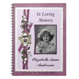 Begravnings- Guestbook för Anteckningsbok