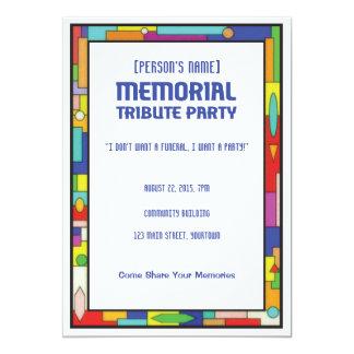 Begravnings- party för minnes- Tribute 12,7 X 17,8 Cm Inbjudningskort