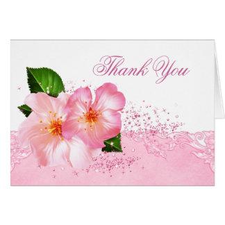 Begravnings- tackkort för elegant körsbärsröd blom OBS kort