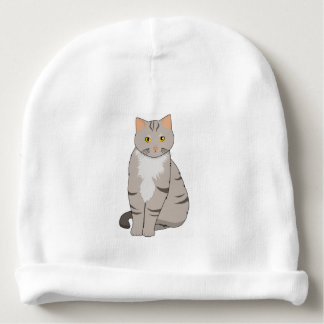 Begynna babyBeanie för gullig tabby katt