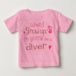 Begynna babyT-tröja för dykare (framtid) Tee Shirt