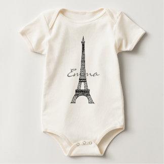 Begynna organisk ranka för Eiffel torn Sparkdräkt