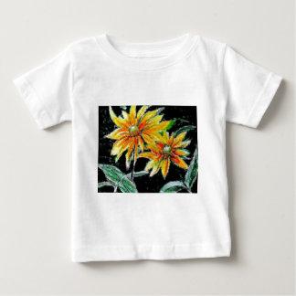 Begynna skjorta med solrosor tshirts