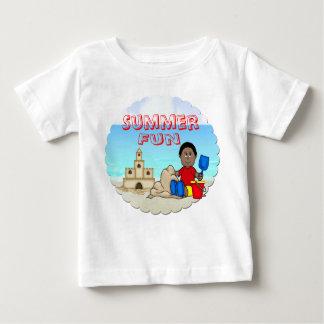 Begynna T-tröja för Sandcastle (svart pojke) T Shirts