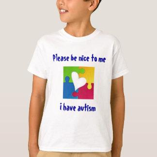 Behaga är trevligt - autismmedvetenhetskjortan tshirts