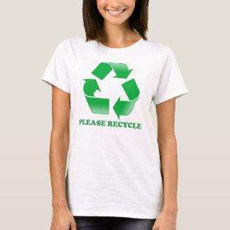 Behaga återvinnan tshirts