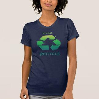 Behaga återvinnan undertecknar jorddagT-tröja Tröja