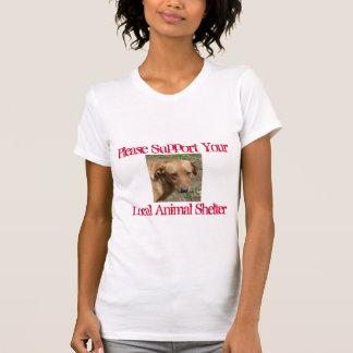 Behaga din service, djurt skydd för lokal tshirts