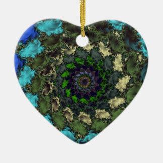 Behaga Hjärtformad Julgransprydnad I Keramik