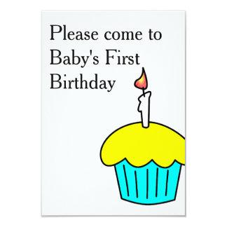 Behaga komen till baby första födelsedag 8,9 x 12,7 cm inbjudningskort