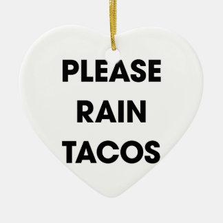 Behaga regnar Tacos 2 Hjärtformad Julgransprydnad I Keramik