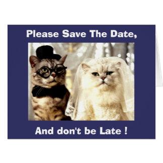 Behaga sparan för katthälsningen för datera 2 kort