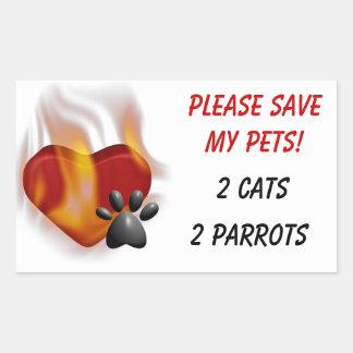 Behaga sparan min husdjur! rektangulärt klistermärke