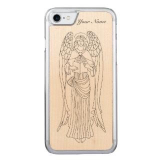 Behagfull smyckade Eleborately läs- ängeldesign Carved iPhone 7 Skal
