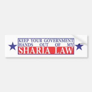 Behålla av min Sharia lagbildekal Bildekal