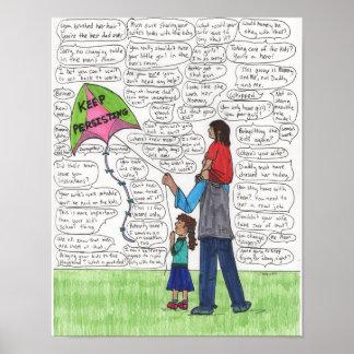 Behålla framhärdande (pappor) 11x14 poster