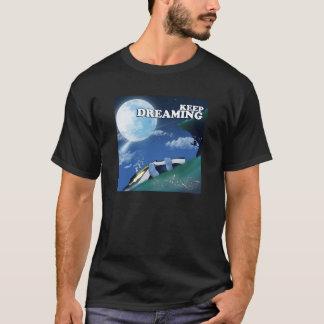 Behålla som drömm t-skjorta svart t shirts