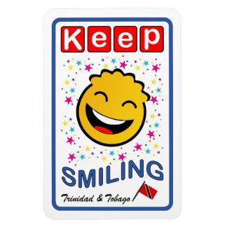 Behålla som ler den Trinidad och Tobago smileyen Magnet