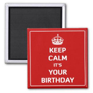 Behållalugn är det din födelsedag magneter