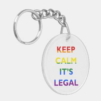 Behållalugn är det laglig service LGBT Keychain