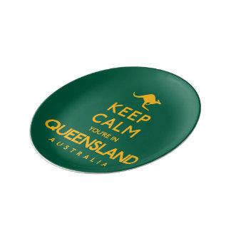 Behållalugn är du i Queensland! Porslinstallrik