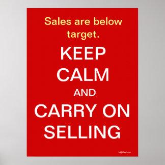 Behållalugn bär på att sälja kvick Saleslogan Poster