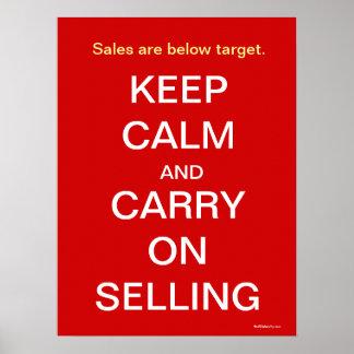 Behållalugn bär på att sälja rolig Saleslogan Poster