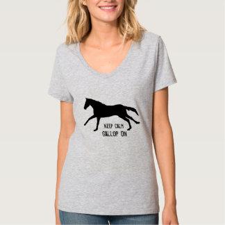 Behållalugn, galopp på t-shirts