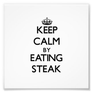 Behållalugn, genom att äta Steak Fotografi