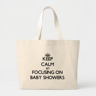 Behållalugn, genom att fokusera på baby shower tygkasse