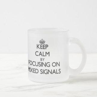 Behållalugn, genom att fokusera på blandat, signal mugg