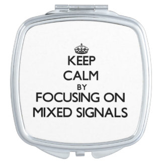 Behållalugn, genom att fokusera på blandat, signal makeup spegel
