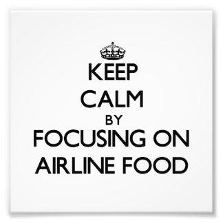 Behållalugn genom att fokusera på flygbolagmat