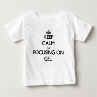Behållalugn, genom att fokusera på gelen tee shirts