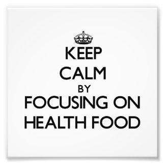 Behållalugn, genom att fokusera på hälsokost fototryck