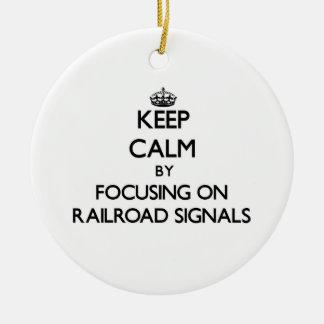 Behållalugn, genom att fokusera på järnväg, signal julgransdekorationer