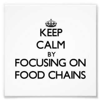Behållalugn genom att fokusera på mat kedjar