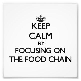 Behållalugn, genom att fokusera på maten, kedjar fototryck